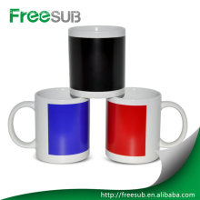 White color changing sublimation magic coffee mug